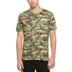 Wholesale Cheap Men\'s Detroit Lions \'47 Camo Alpha T-Shirt