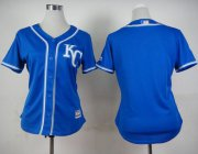 Wholesale Cheap Royals Blank Blue Alternate 2 Women's Stitched MLB Jersey