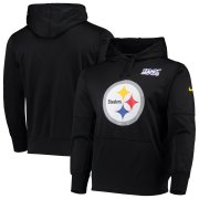 Wholesale Cheap Pittsburgh Steelers Nike NFL 100 Primary Logo Circuit Performance Pullover Hoodie Black