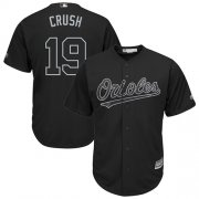 "Wholesale Cheap Orioles #19 Chris Davis Black ""Crush"" Players Weekend Cool Base Stitched MLB Jersey"