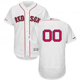Wholesale Cheap Boston Red Sox Majestic Home Flex Base Authentic Collection Custom Jersey White