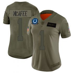 Wholesale Cheap Nike Colts #1 Pat McAfee Camo Women\'s Stitched NFL Limited 2019 Salute to Service Jersey