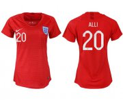 Wholesale Cheap Women's England #20 Alli Away Soccer Country Jersey
