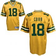 Wholesale Cheap Packers #18 Randall Cobb Yellow Stitched NFL Jersey