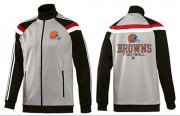 Wholesale Cheap NFL Cleveland Browns Victory Jacket Grey