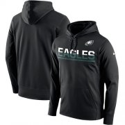 Wholesale Cheap Men's Philadelphia Eagles Nike Black Sideline Circuit Pullover Performance Hoodie