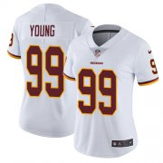 Wholesale Cheap Nike Redskins #99 Chase Young White Women's Stitched NFL Vapor Untouchable Limited Jersey