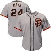 Wholesale Cheap Giants #24 Willie Mays Grey Road 2 Cool Base Stitched Youth MLB Jersey