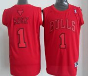 Wholesale Cheap Chicago Bulls #1 Derrick Rose Revolution 30 Swingman Red Big Color Jersey