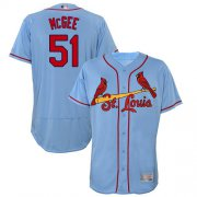 Wholesale Cheap Cardinals #51 Willie McGee Light Blue Flexbase Authentic Collection Stitched MLB Jersey