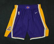 Wholesale Cheap Men's Los Angeles Lakers Purple 2017-2018 Nike Swingman Stitched NBA Shorts