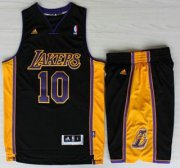 Wholesale Cheap Los Angeles Lakers #10 Steve Nash Black Revolution 30 Swingman NBA Jerseys Shorts Suits Purple Number 2013 New Style