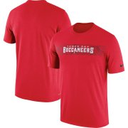 Wholesale Cheap Tampa Bay Buccaneers Nike Sideline Seismic Legend Performance T-Shirt Red