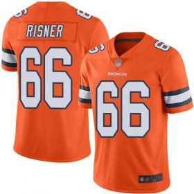 Wholesale Cheap Nike Broncos #66 Dalton Risner Orange Men\'s Stitched NFL Limited Rush Jersey