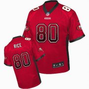 Wholesale Cheap Nike 49ers #80 Jerry Rice Red Team Color Men's Stitched NFL Elite Drift Fashion Jersey