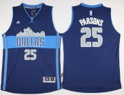 Wholesale Cheap Men's Dallas Mavericks #25 Chandler Parsons Revolution 30 Swingman The City Navy Blue Jersey