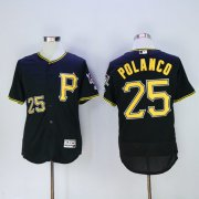 Wholesale Pirates #25 Gregory Polanco Black Flexbase Authentic Collection Stitched Baseball Jersey