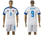 Wholesale Cheap Slovakia #9 Sestak Home Soccer Country Jersey