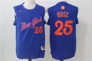 Wholesale Cheap Men's New York Knicks #25 Derrick Rose adidas Royal Blue 2016 Christmas Day Stitched NBA Swingman Jersey