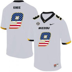 Wholesale Cheap Missouri Tigers 9 Jalen Knox White USA Flag Nike College Football Jersey