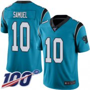 Wholesale Cheap Nike Panthers #10 Curtis Samuel Blue Men's Stitched NFL Limited Rush 100th Season Jersey