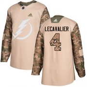 Wholesale Cheap Adidas Lightning #4 Vincent Lecavalier Camo Authentic 2017 Veterans Day Stitched NHL Jersey