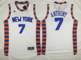 Wholesale Cheap Men\'s New York Knicks #7 Carmelo Anthony Revolution 30 Swingman 2015-16 White Jersey
