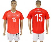 Wholesale Cheap Switzerland #15 Dzemaili Red Home Soccer Country Jersey