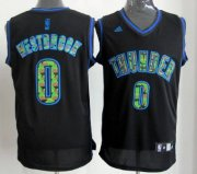Wholesale Cheap Oklahoma City Thunder #0 Russell Westbrook Black Camo Fashion Jersey