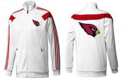Wholesale Cheap NFL Arizona Cardinals Team Logo Jacket White_1