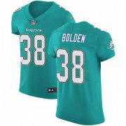Wholesale Cheap Nike Dolphins #38 Brandon Bolden Aqua Green Team Color Men's Stitched NFL Vapor Untouchable Elite Jersey