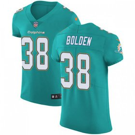 Wholesale Cheap Nike Dolphins #38 Brandon Bolden Aqua Green Team Color Men\'s Stitched NFL Vapor Untouchable Elite Jersey