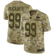 Wholesale Cheap Nike 49ers #99 DeForest Buckner Camo Men's Stitched NFL Limited 2018 Salute To Service Jersey