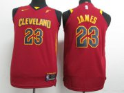 Cheap Nike Cavaliers #23 LeBron James Red Stitched Youth NBA Swingman Jersey