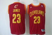 Wholesale Cheap Cleveland Cavaliers #23 LeBron James Revolution 30 Swingman Red Jersey
