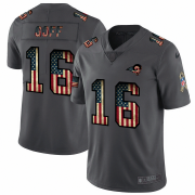 Wholesale Cheap Los Angeles Rams #16 Jared Goff Nike 2018 Salute to Service Retro USA Flag Limited NFL Jersey