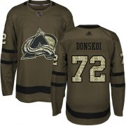Wholesale Cheap Adidas Avalanche #72 Joonas Donskoi Green Salute to Service Stitched Youth NHL Jersey