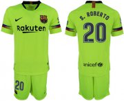Wholesale Cheap Barcelona #20 S.Roberto Away Soccer Club Jersey
