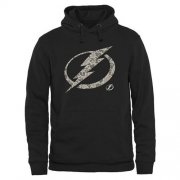 Wholesale Cheap Men's Tampa Bay Lightning Black Rink Warrior Pullover Hoodie