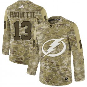 Wholesale Cheap Adidas Lightning #13 Cedric Paquette Camo Authentic Stitched NHL Jersey