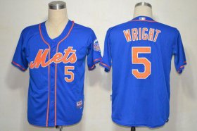Wholesale Cheap Mets #5 David Wright Blue Alternate Home Cool Base Stitched MLB Jersey