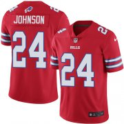 Wholesale Cheap Nike Bills #24 Taron Johnson Red Men's Stitched NFL Limited Rush Jersey