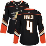 Wholesale Cheap Adidas Ducks #4 Cam Fowler Black Home Authentic Women's Stitched NHL Jersey