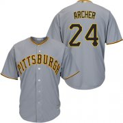 Wholesale Cheap Pirates #24 Chris Archer Grey New Cool Base Stitched MLB Jersey