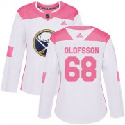 Wholesale Cheap Adidas Sabres #68 Victor Olofsson White/Pink Authentic Fashion Women's Stitched NHL Jersey