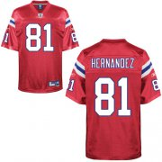 Wholesale Cheap Patriots #81 Aaron Hernandez Red Stitched NFL Jersey