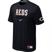 Wholesale Cheap Cincinnati Reds Nike Short Sleeve Practice MLB T-Shirt Black