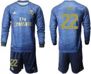Wholesale Cheap Real Madrid #22 Isco Away Long Sleeves Soccer Club Jersey