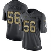 Wholesale Cheap Nike Seahawks #56 Jordyn Brooks Black Men's Stitched NFL Limited 2016 Salute to Service Jersey