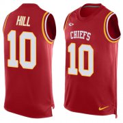 Wholesale Cheap Nike Chiefs #10 Tyreek Hill Red Team Color Men's Stitched NFL Limited Tank Top Jersey